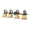 <strong>Golden Lighting</strong> Mayfair 4 Light Bath Vanity Light