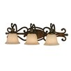 <strong>Golden Lighting</strong> Heartwood 3 Light Bath Vanity Light