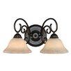 <strong>Golden Lighting</strong> Homestead 2 Light Bath Vanity Light