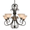 <strong>Homestead 5 Light Chandelier</strong> by Golden Lighting