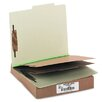 <strong>Acco Brands, Inc.</strong> Pressboard 25-Point Classification Folders, Ltr, 6-Section, Leaf Green, 10/box