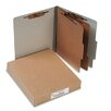 <strong>Acco Brands, Inc.</strong> Pressboard 25-Point Classification Folders, Ltr, 6-Section, Mist Gray, 10/box