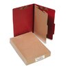 <strong>Acco Brands, Inc.</strong> Pressboard 25-Point Classification Folder, Lgl, 4-Section, Earth Red, 10/bx