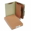 <strong>Acco Brands, Inc.</strong> Pressboard 25-Point Classification Folders, Lgl, 6-Section, Leaf GN, 10/box