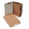<strong>Acco Brands, Inc.</strong> Pressboard 25-Point Classification Folders, Lgl, 6-Section, Mist GY, 10/box
