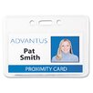 Proximity Id Badge Holder, Horizontal, 3 3/8W X 2 3/8H, 50/Pack