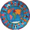 Joy Carpets Educational Hands Around the World Area Rug