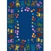 Joy Carpets Educational Musical Chairs Alphabet Area Rug