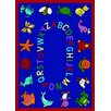 Joy Carpets Educational ABC Animals Bold Design Area Rug