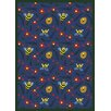 Joy Carpets Educational Bee Attitudes Blue Area Rug