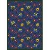 Joy Carpets Educational Bee Attitudes Blue Area Rug