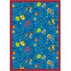 Joy Carpets Educational Scribbles Blue Area Rug