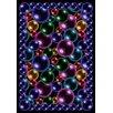 Joy Carpets Whimsy Essentials Bubbles Blue Area Rug