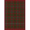 Joy Carpets Whimsy Bit O' Scotch Tartan Green Rug