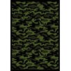 Joy Carpets Whimsy Funky Camo Camouflage Green Rug