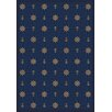 Joy Carpets Whimsy Mariner's Tale Anchor Navy Rug