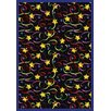 Joy Carpets Whimsy Streamers and Stars Novelty Area Rug