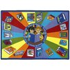 Joy Carpets Educational Read All About It Area Rug