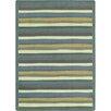 Joy Carpets Just for Kids Yipes Stripes Soft Area Rug