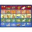 Joy Carpets Educational Animal Phonics Area Rug