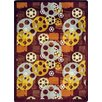 Joy Carpets Gaming and Entertainment Blockbuster Burgundy Area Rug