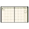 Recycled Monthly Professional Planner, 13 Months (Jan-Jan), Black Cover, 2014