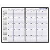 <strong>At-A-Glance</strong> Academic/Fiscal Ruled 14-Month Planner, 7-7/8 x 11-7/8, Black, 2012