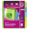 Avery Consumer Products Worksaver Big Tab Plastic Dividers (5 Tabs)