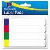 Avery Consumer Products Removable Label Pads, 2/3 x 3 7/16, White w/Assorted Color Bars, 160/Pack