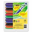Bic Corporation Great Erase Grip Dry Erase Chisel Tip Markers (30/Pack)