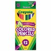 Crayola LLC Long Barrel Colored Woodcase Pencils, 3.3 mm, Assorted Colors, 12/Set