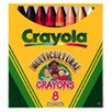 Crayola LLC Multicultural Crayons Lrg 8-pk