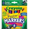 <strong>Washable Poster Markers (8 Pack)</strong> by Crayola LLC