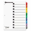 Cardinal Brands, Inc 100% Recycled OneStep Index System, Multicolor 10-Tab, 11 x 8-1/2, 1 Set