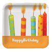 "<strong>9"" Chic Birthday Square Dinner Plate (8 Count)</strong> by Creative Converting"