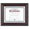 """DAX® World Class Document Frame w/Certificate, Walnut, 8 1/2 x 11"""""""