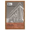 DAX® Plastic Poster Frame, Traditional with clear plastic window, 24 x 36, Medium Oak