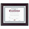 "DAX® Prestige Document Frame, Walnut/Black, Gold Accents, Certificate, 8 1/2 x 11"""