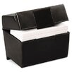 <strong>Esselte Pendaflex Corporation</strong> Oxford Plastic Index Card Flip Top File Box Holds 400 4 x 6 Cards