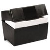 Oxford Plastic Index Card Flip Top File Box Holds 500 5 x 8 Cards
