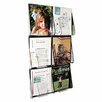"Multi-Pocket Wall-Mount Literature Systems, 35.25"" High"