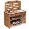 <strong>Outdoor Chef Mud Pie Kitchen with Cooking Accessories</strong> by Badger Basket
