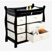 <strong>Sleigh Style Baby Changing Table with 6 Baskets</strong> by Badger Basket