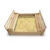 <strong>Cedar 4' Rectangular Sandbox with Cover</strong> by Badger Basket