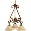 <strong>Scroll 3 Light Down Pendant</strong> by Craftmade