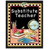 Teacher Created Resources Substitute Teacher Pocket Folder Tc