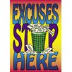 <strong>Poster Excuses Stop Here</strong> by Trend Enterprises