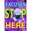 <strong>Excuses Stop Here Poster</strong> by Trend Enterprises