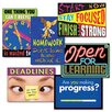 "Trend Enterprises Assorted ""Motivation"" Themed Scholastic Prints, 6/Pack"