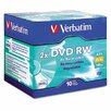 DVD-RW Discs, 4.7GB, 2x, with Jewel Cases, Silver, 10/Pack